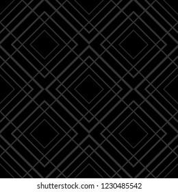 Tile pattern with golden ornament on black background