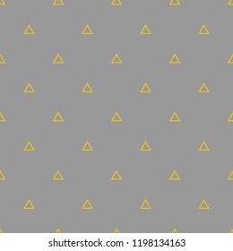 Tile pattern with yellow triangles on grey background
