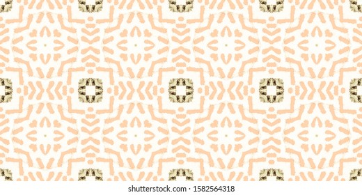 Tile Watercolor. Old Arabian. Beige Ceramic Tile. Patterns Ceramic Marble. Sepia Santorini Texture. Yellow Ethnic Design. Wall Cotton. Brown Ethnic Brush.