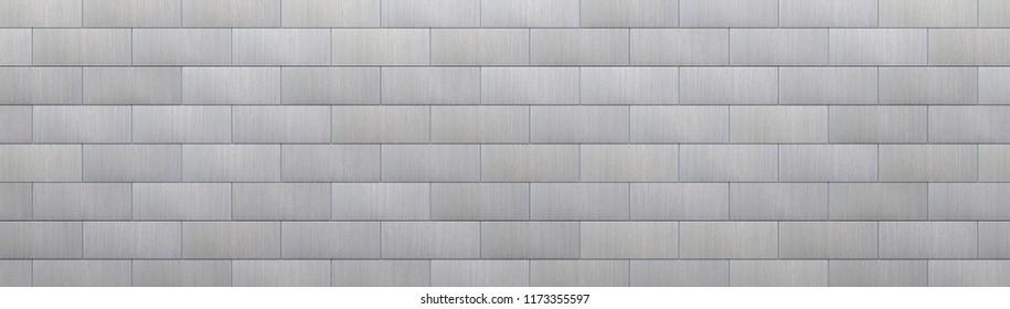 Tiled Metal Background (Detail 3D Illustration)