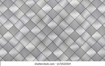 Tiled Metal Texture (3d illustration)