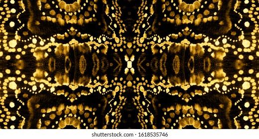 Tiles Portuguese. Metallic Decor. Metallic Italian Tiles. Majolica Watercolor. Yellow Ethnic Ornament. Yellow Ethnic Mexican. Ethnic Design. Black Ornament.