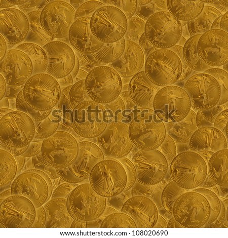 Tiling Image of $50 Gold Eagles