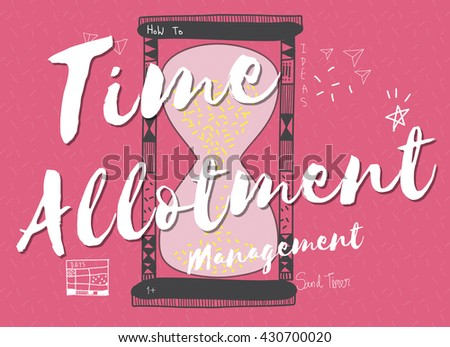t ime clock hour minute alarm concept stock illustration 430700020