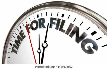 Time for Filing Business Company Reporting Clock 3d Illustration