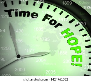 Time for hope concept icon means to wish or desire and anticipate. An eagerness or hunger to do well - 3d illustration