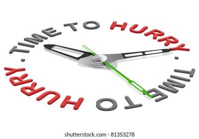 time to hurry deadline ahead working against the clock minutes countdown