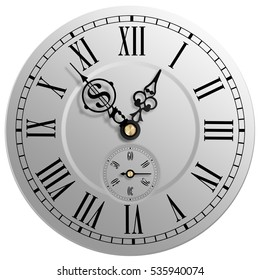 Time is money classic clock face with Yen symbol. 3d illustration.