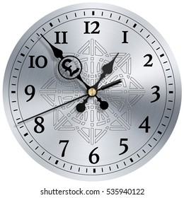 Time is money modern clock face with Yen symbol. 3d illustration.