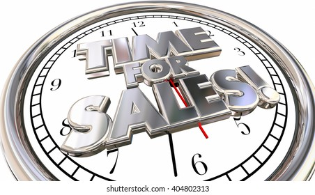 Time for Sales Selling Countdown Deadline Clock Ticking Words