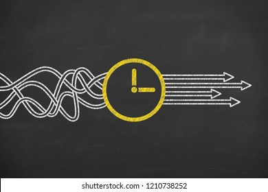 Time Solution Concepts on Chalkboard Background