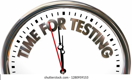 Time for Testing Evaluation Exams Words 3d Illustration