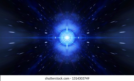 Time vortex tunnel background. Wormhole though time and space, warp straight ahead through this science fiction.