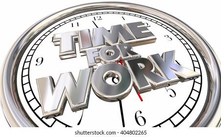Time for Work Clock Job Career Task Project Pressure Stress Deadline