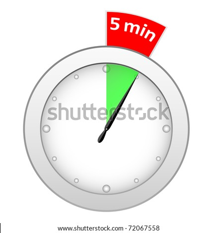 timer 5 minutes stock illustration 72067558 shutterstock