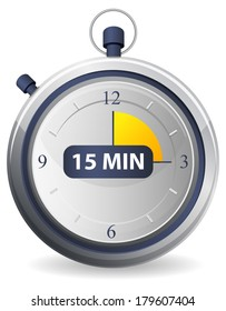 Timer Icon - 15 Minutes as JPG File