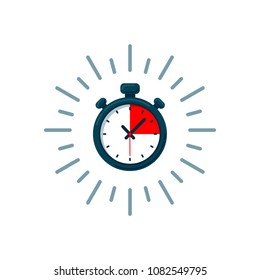 Timer icon. Fast time. Fast delivery, express and urgent shipping, services, stop watch speed concept, deadline, delay. chronometer sign. illustration