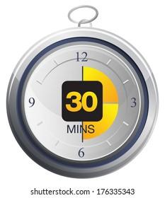 Timer Icon - Illustration as JPG Stock Image