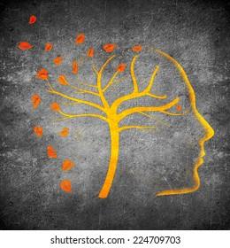 times go by concept digital illustration orange on black