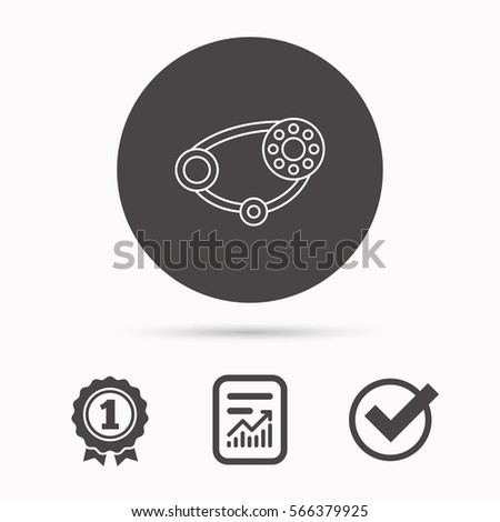 timing belt icon generator strap sign stock illustration 566379925