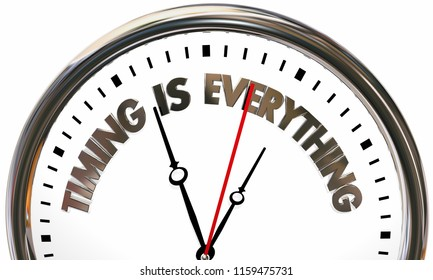 Timing is Everything Speed Time Clock 3d Illustration