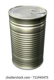 Tin Can Packaging Mockup   for Design Project - Mock Up 3D illustration Isolate on White Background