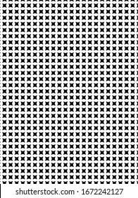 Tiny, modern black and white design in a geometric pattern