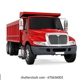 Tipper Dump Truck Isolated. 3D rendering