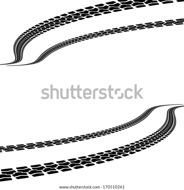tire prints,  illustration