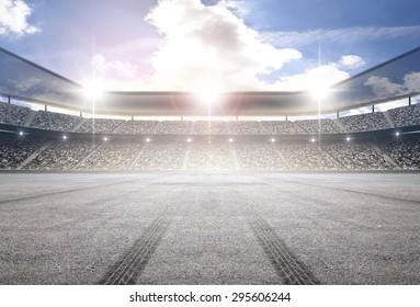 Tire track stadium