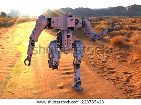 titan robot running on