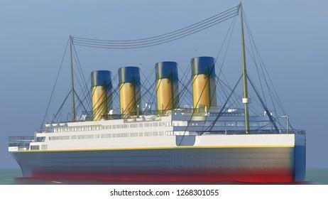 Titanic Computer generated 3D render