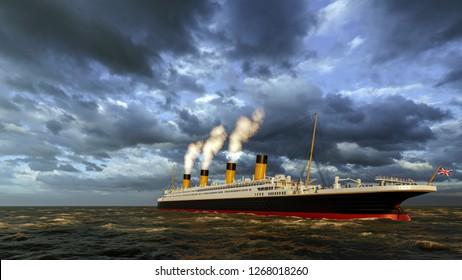 Titanic ship Computer generated 3D render