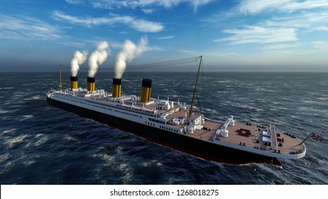 Titanic ship Computer generated 3D render