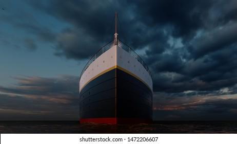 Titanic ship Computer generated 3D render.