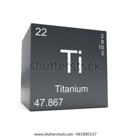 Titanium Chemical Element Symbol Periodic Table Stock Illustration