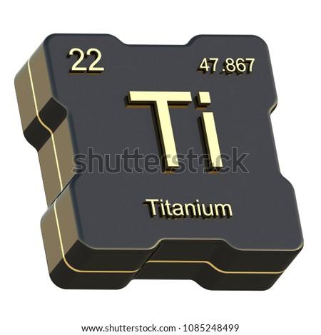 Titanium Element Symbol Periodic Table On Stock Illustration