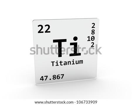 Titanium Symbol Ti Element Periodic Table Stock Illustration