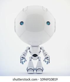 Toddler robot toy, 3d rendering