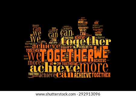 together we can achieve more teamwork stock illustration 292913096