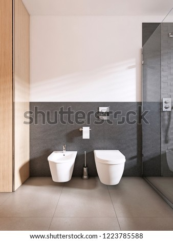 Toilet Bidet Modern Bathroom Scandinavian Style Stock Illustration - Amazing-toilets-and-bidets-collection-from-stile