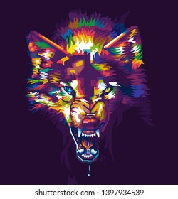 Tokyo,Japan - MAY 15,2019: colorful illustration of warewolf