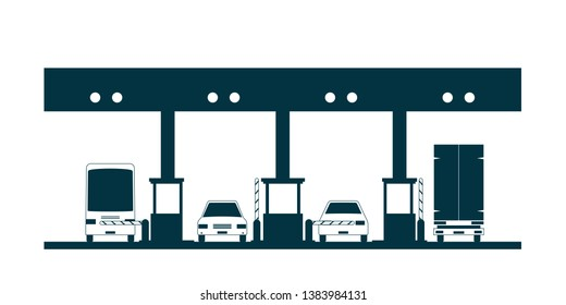 toll plaza icon. Clipart image isolated on white background