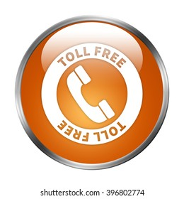 tollfree button isolated