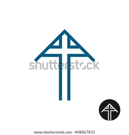 Tomb Cross Triangle Roof Cover Symbol Stock Illustration 408867835