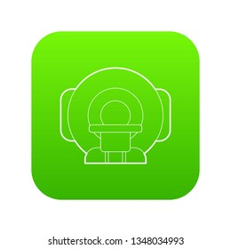 Tomograph icon green isolated on white background