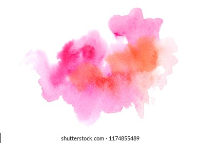 toned watercolor with colorful shades background