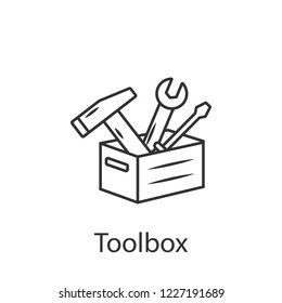 Toolbox  icon icon. Simple element illustration. Toolbox  icon symbol design from Construction collection set. Can be used in web and mobile