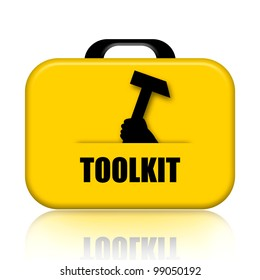 Toolkit isolated on white background