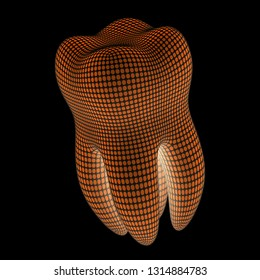 Tooth. 3D Illustration.